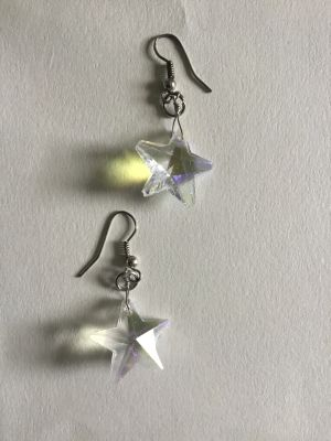 handmade star earrings