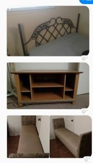 Tv stand bench bed frame