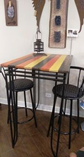 High Top Pub Table and 2 Stools