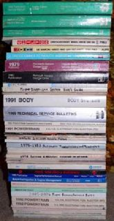 $25 38 Mopar / Dodge / Plymouth / Chrysler repair manuals, 1980's-1990 era