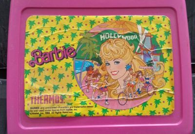 VINTAGE 1980's BARBIE LUNCH BOX w/ THERMOS
