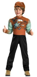 NEW Disney Cars 2 Movie Tow Mater Costume 7-8 Boys