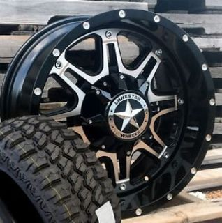"Buy 18"" Black Machine Lonestar Outlaw Wheels 33x12.50"" M/T Tires Jeep Wrangler 5x127 motorcycle in Katy, Texas, United States"