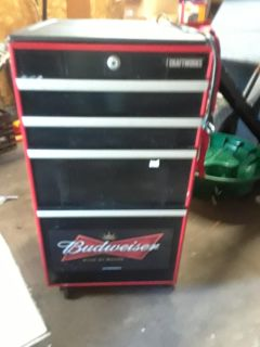 Budweiser mock tool chest mini fridge