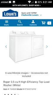 Nearly New Washer + Dryer set