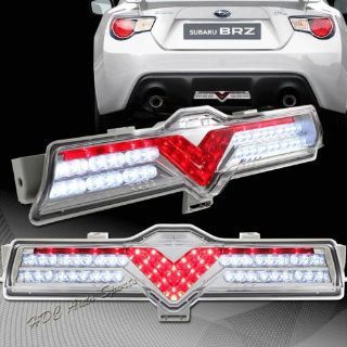 Find For Scion FR-S Subaru BRZ Clear Red Lens Chrome Housing Bumper LED Brake Lights motorcycle in Walnut, California, United States