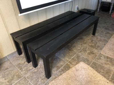 IKEA kitchen table bench set with extensions