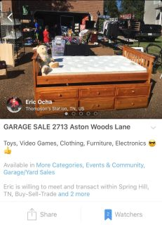 GARAGE SALE TODAY. Everything must go!!