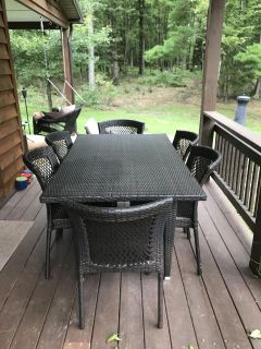 Outdoor Patio Dining Set ~ Table and 6 Chairs