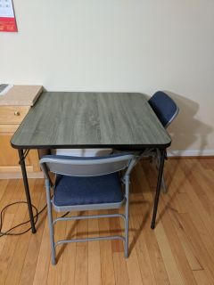 2 chairs and a table
