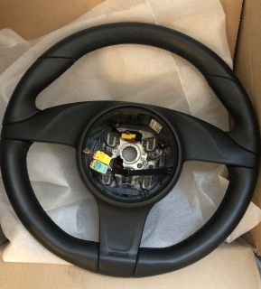 2013 Carrera S Leather Heated Steering Wheel and Module - Manual Transmission