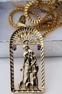 14k gold plated Franco chain,bracelet and pendant 22 or 24inch chain and 8.0 inch bracelet