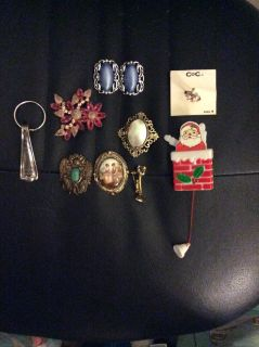 JEWELRY, VINTAGE AND 2 NEW items ANTIQUE KEY HOLDER, 9 items total