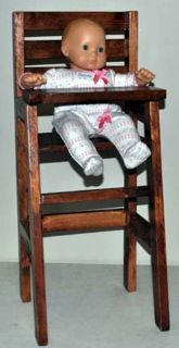 """Doll High Chair (Fits 18"""" dolls including American Girl)"""