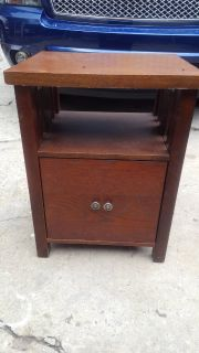 Side table with pull out drawer