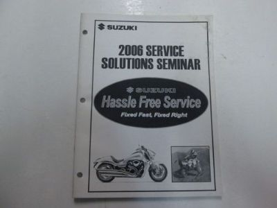 Purchase 2006 Suzuki Service Solutions Seminar Manual STAINED FACTORY OEM BOOK 06 DEAL*** motorcycle in Sterling Heights, Michigan, United States, for US $14.95
