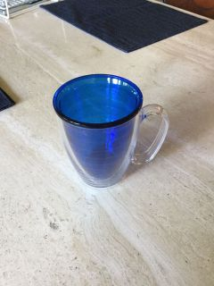 New Tervis Blue Insulated Mug