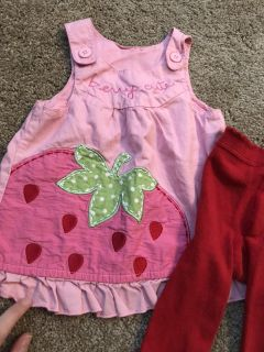 Berry cute tunic/tight set 3-6 month