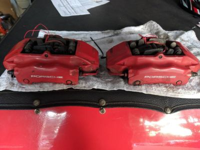 Porsche 996/Boxster S Big Red Front Calipers