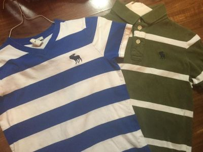 TWO ABERCROMBIE & FITCH BOYS SHIRTS SOFT EXCELLENT CONDITION MEDIUM