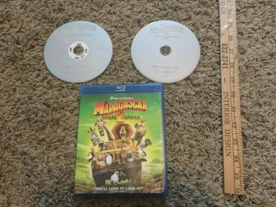 Dreamworks Madagascar Blu-Ray and DVD too, DVD was not originally included. $3.00.