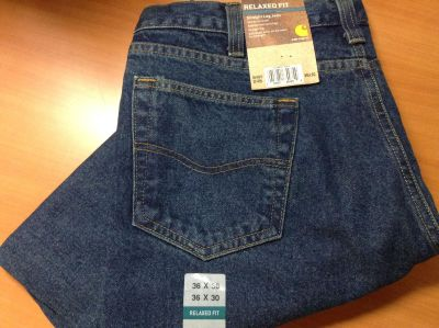 NWT Carhartt Relaxed Fit Straight Leg-B460 DVB Jeans-36x30-Retail $30 pair-To late to return, my loss, your gain! Price per pair, 4pr avail