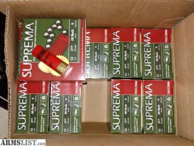 For Sale: Suprema 12 gauge 00 Buck $70/250 rounds
