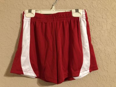 Red and White Active Sports Gym Shorts. Perfect Condition. Size Small