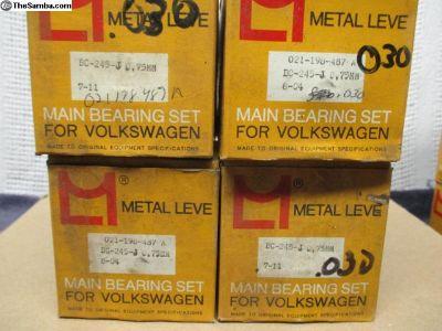 NOS Metal Leve Main Bearings IV> .030 Std Std