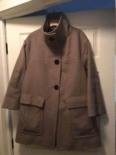 TAUPE WOOL. JACKET MADE. BY. ZARA