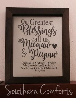 Custom Floating Frame - Great Mother s Day Gift!