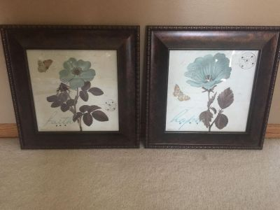 Coordinating Kirkland Pictures Framed in Rich Brown