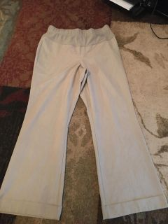 Duo maternity lg khaki dress pants - ppu (near old chemstrand & 29) or PU @ the Marcus Pointe Thrift Store (on W st.)