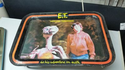 Vintage 1982 E.T. The Extra Terrestrial Metal Folding TV Dinner Lap Tray