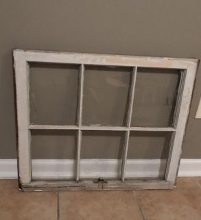 Weathered vintage 6 pane window. Ready to hang.