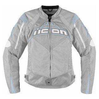 Buy NEW WOMEN'S ICON CONTRA SILVER MOTORCYCLE JACKET SIZE: SM-XL motorcycle in Kaukauna, Wisconsin, US, for US $225.00