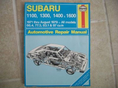 Find Haynes # 237 Subaru 1100, 1300, 1400, & 1600 Manual 1971 thru 1979 ALL MODELS motorcycle in Golden Valley, Arizona, United States, for US $9.99