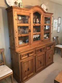 Rustic Mexican China hutch