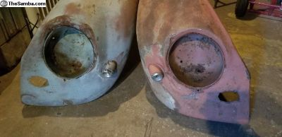 Aug 55 to 1957 Oval Bullet Fenders
