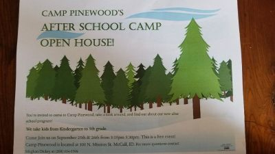 Camp Pinewood's After School Camp OPEN HOUSE