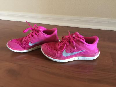 Pink Nike sneakers size 7.4