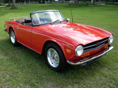 1974 Triumph TR6 Roadster (Red)