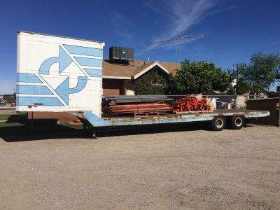 1966 Kent Dog house drop deck trailer