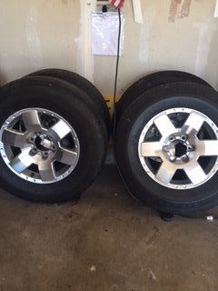 5 FJ Cruiser/4 Runner Tires and 4 Plastic Dip Rims