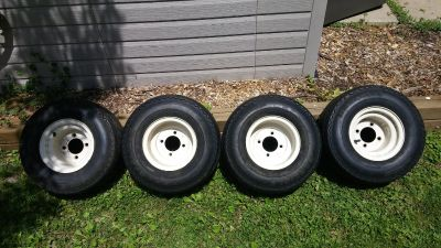GOLF CART RIMS AND TIRES SET OF 4