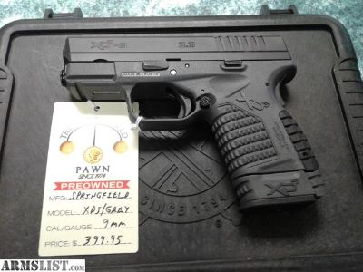 For Sale: SPRINGFIELD XDS/GREY 9MM
