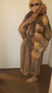 GORGEOUS! CRYSTAL FOX FULL LENGTH FUR COAT