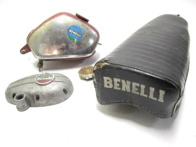 Find Benelli Dynamo/Hurricane Mini Bike Gas/Fuel Tank Seat/Right Side Engine Case LOT motorcycle in Akron, Ohio, US, for US $99.95
