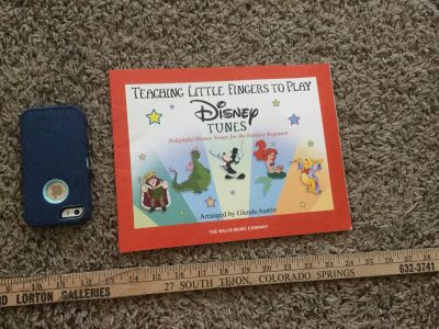 Disney Tunes piano book for beginners. $2.00