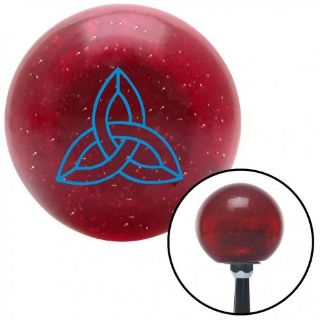 Sell Blue Celtic Design #1 Red Metal Flake Shift Knob with 16mm x 1.5 Insert motorcycle in Portland, Oregon, United States, for US $29.97